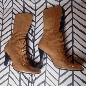 Coccinelle Boots Leather Heeled Italian Leather